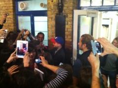 Radcliffe at Stage Door
